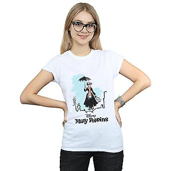 Disney Women's Mary Poppins Rooftop Landing Colour T-Shirt