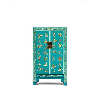 The Nine Schools Oriental Decorated Blue Medium Cabinet - Baumhaus