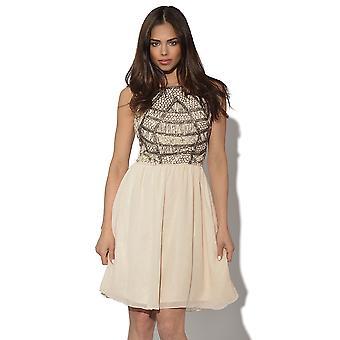 Little Mistress Luxe Embellished Bodice Dress