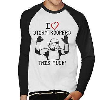 Originele Stormtrooper I Love This Troopers veel mannen honkbal lange mouwen T-Shirt