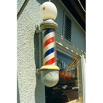 Barber Pole Spring Lake New Jersey Usa Poster Print By Vintage Collection