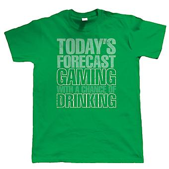 Gaming With A Chance Of Drinking Mens Funny Video Game T Shirt