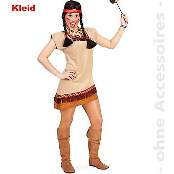Indianerin Wild West Manitu Damenkostüm Squaw Teenager Kostüm