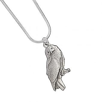 Harry Potter Silver Plated Necklace Hedwig Owl