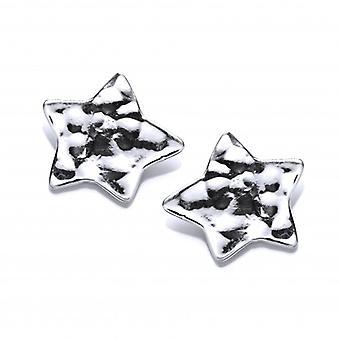 Cavendish franska hamrade Silver Star örhängen