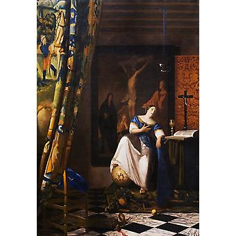The Allegory of the Faith of the wet, Johannes Vermeer, 40x60cm with tray