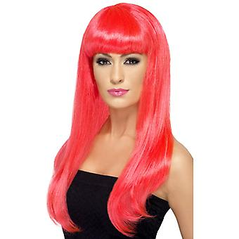 Babelicious wig, neon pink
