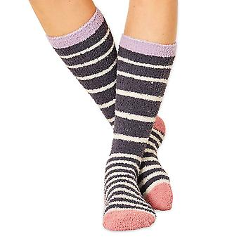 Bangora women's fluffy socks in charcoal. Recycled polyester, made by Braintree