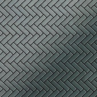 Metal mosaic Raw Steel ALLOY Herringbone-RS