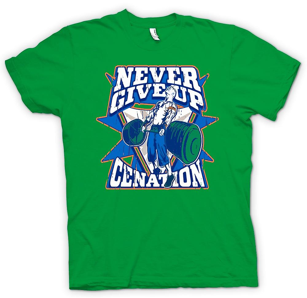 Mens T-shirt - Never Give Up - Cenation