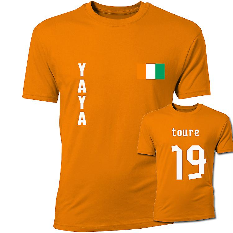 Yaya Toure Ivory Coast Flag T-Shirt (Orange)
