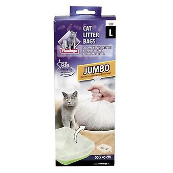 Flamingo JUMBO TOILET BAGS FOR CATS  5 pcs. 25X9, 5X4, 5CM