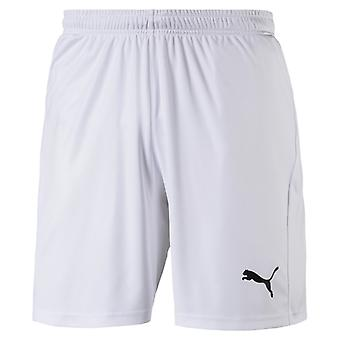 PUMA League s core with letter men's football shorts white-black