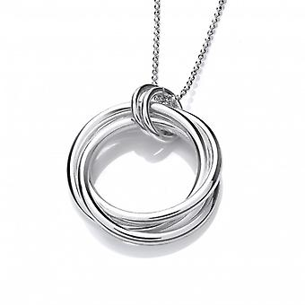 Cavendish French Silver Multi Ring Pendant without Chain