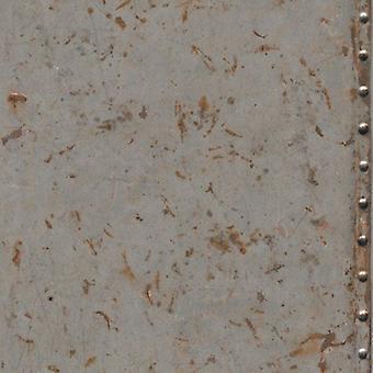 Indsæt væg Vinyl industrielle stål grå rustne effekt moderne tekstureret tapet