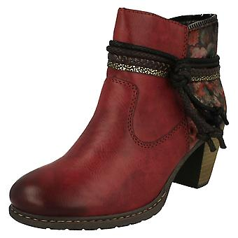Ladies Rieker Lambswool Lined Ankle Boots Z1580