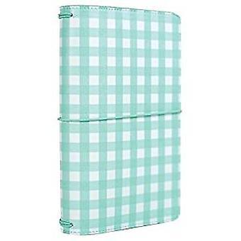 Echo Park Paper Travelers Notebook Teal Gingham (TN1009)