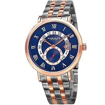 Akribos XXIV Men's Quartz Multifunction Two-Tone Bracelet Watch AK949TTR