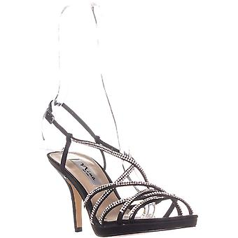 Nina Womens Vilma Open Toe Special Occasion Slingback Sandals