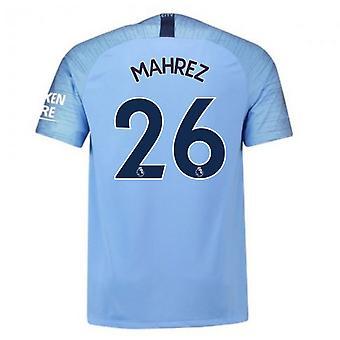 2018-2019 Man City Home Nike Football Shirt (Mahrez 26)