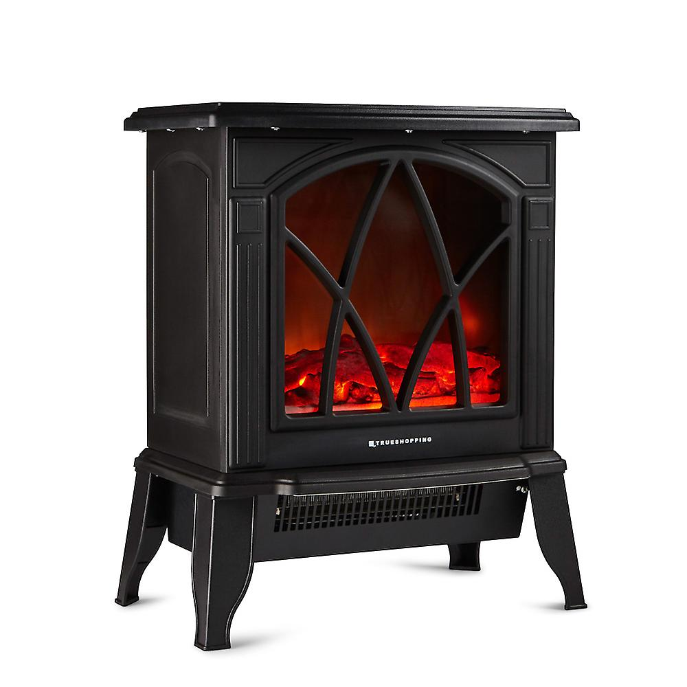 Librestanding Electric bois Burning Flame Effet Fireplace Width 44cm 2000W Noir