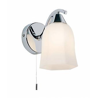 1 light light light light chrome con sombra de cristal de ópalo