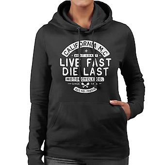Divide & Conquer Live Fast Die Last Women's Hooded Sweatshirt