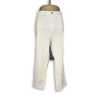 H door Halston vrouwen ' s Petite broek Studio stretch 5-Pocket wit A289583