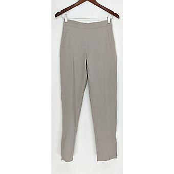 Isaac Mizrahi Live! 24/7 Stretch Ankle Pants w/ Zip Detail Gray A286111