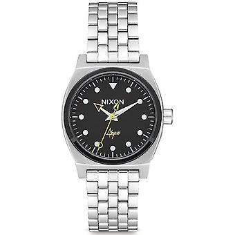 Nixon Time Teller Quartz Analog Woman Watch with A11302971 Stainless Steel Bracelet