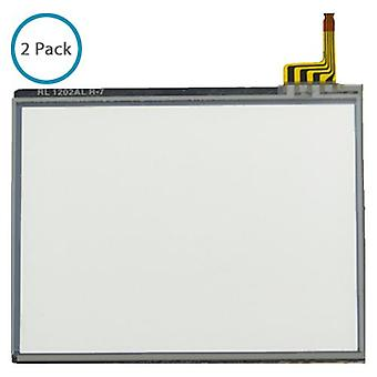 Compatible bottom touch screen digitizer part for nintendo ds lite with pre-fitted adhesive - 2 pack
