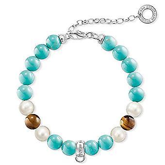 Thomas Sabo Women's wrist jewel - multicolored (Turchese - blue - white) - 21 cm