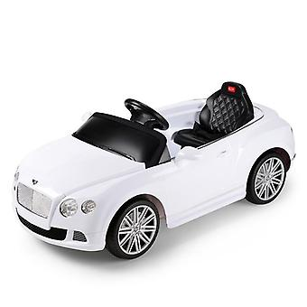 Licensed Bentley GTC 12V Electric Ride On Car With MP3 Input Player Colour White