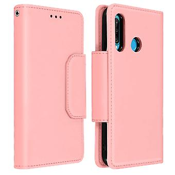 Magnetic Detachable Wallet Folio Case for Huawei P30 Lite - Pink