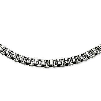 Edelstahl poliert Phantasie Hummer Schließung Circlualr Links Halskette - 24 Zoll