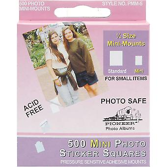 Mini Photo Squares Self Adhesive 500 Pkg White 1 4