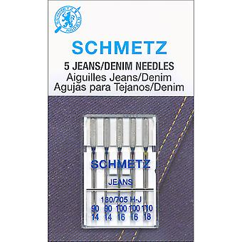 Jean & Denim Machine Needles-Sizes 14/90 (2), 16/100 (2) 18/110 (1)  1836