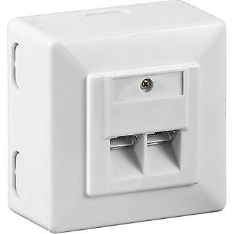 Network outlet Surface-mount CAT 6 2 ports Goobay White