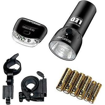 Bike light set Security Plus LS128 battery-powered Black