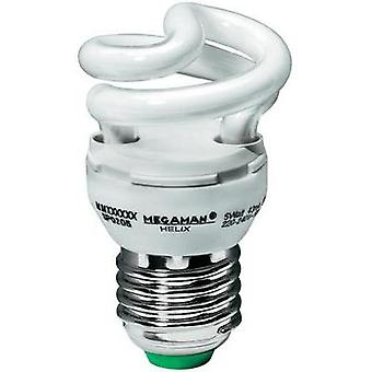 Energy-saving bulb 76 mm Megaman 230 V E27 5 W = 25 W Daylight white EEC: A Spiral shape Content 1 pc(s)