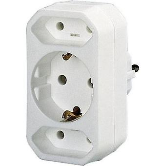 3x Socket splitter GAO 0137 White