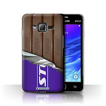 STUFF4 Case/Cover for Samsung Z1/Z130/Wrapped Fingers/Sticks/Chocolate