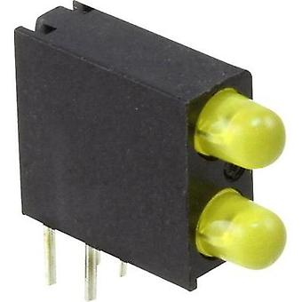 LED component Yellow (L x W x H) 14.06 x 13.33 x 4.32 mm Dialight