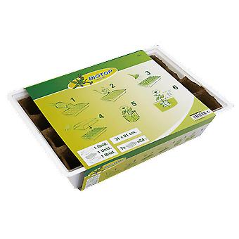 Altadex Peat seedbed kit with lid 24 holes (Garden , Gardening , Seeds)