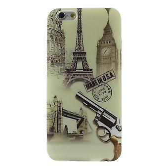 Eifell Tower cover og TPU gummi pistol for iPhone 6