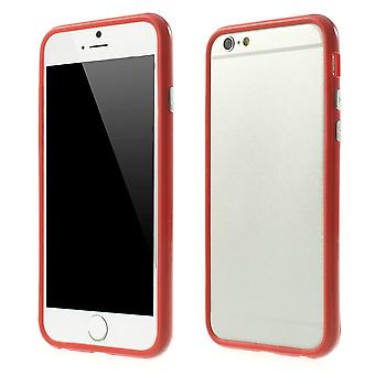 Bumper in TPU rubber and hard plastic for Apple iPhone 6 4.7 (red)