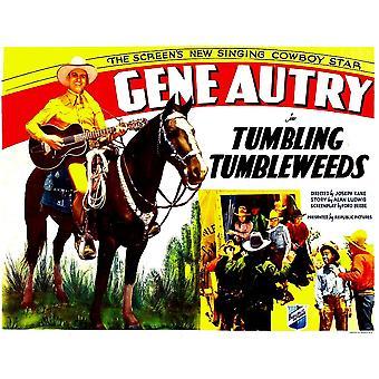 Tumbling Tumbleweeds vänster Gene Autry 1935 film affisch Masterprint