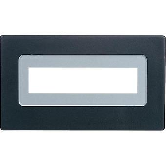 Face frame Black Compatible with: LCD 16 x 2 (W x H x D) 91 x 5