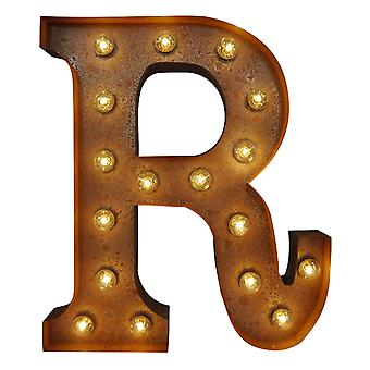 Large Vintage Letter Lights - R