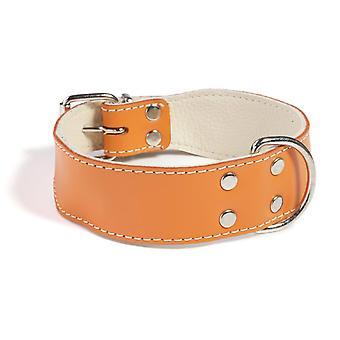 Doggy ting almindelig læder hund krave Orange 50cm